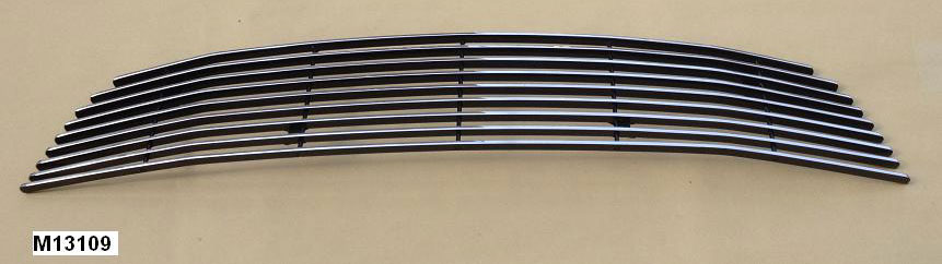 2013-14 Mustang V6 - Upper Billet Grille - Pony Delete - No Pony CHROME POLISH M13109
