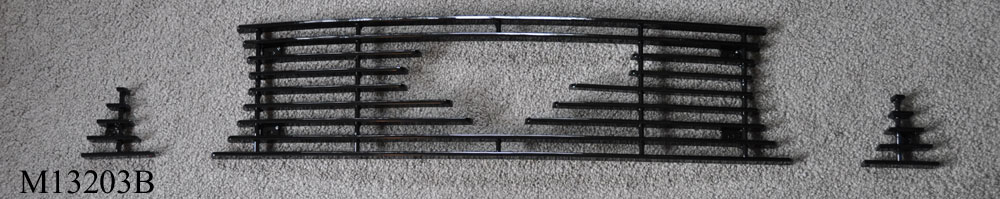 2013-14 Mustang GT - Upper 3PC Billet Grille with Pony Cut out - Black M13203B