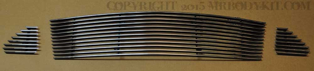 2015-2017 - 3PC Upper Billet Grille - POLISHED (GT ONLY)