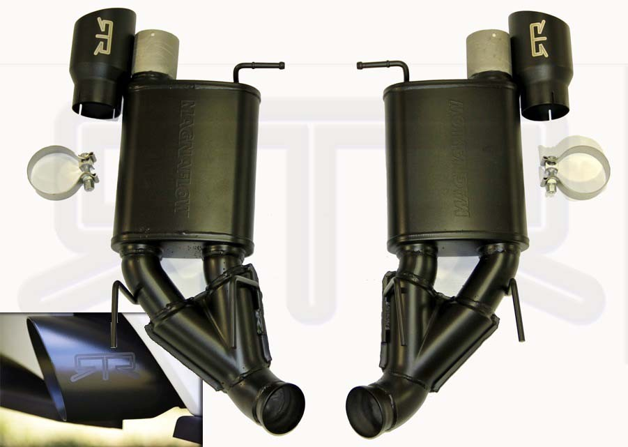 2011-2014 RTR Exhaust with Black Tips for V6 only