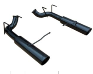 2011-2013 Mustang V6 Pype Bomb Axle Back Exhuast System - Black