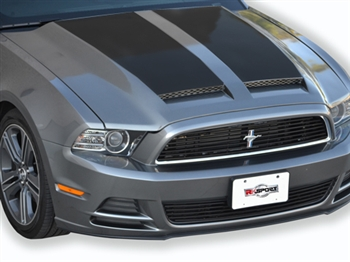2010-2012 GT500 (2013-14 GT/V6) Mustang RK Sports Ram Air Hood w/ Carbon Blisters (10-12 GT500 or 2013-14 GT/V6)