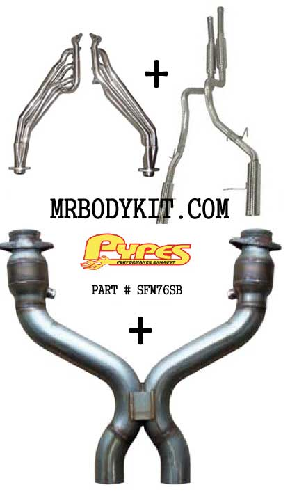 2011-2013 Mustang GT Pypes(Super Beast) Headers, X Pipe & Catback Exhaust Kit
