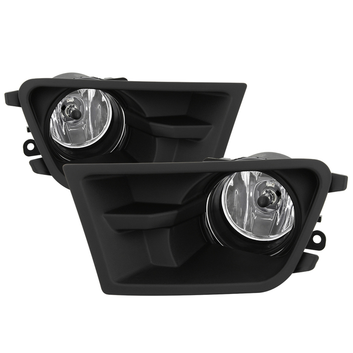 2010-12 Mustang V6 Fog Light Kit with Lower Bumper Insert Housing - Black ABS - Clear Fogs