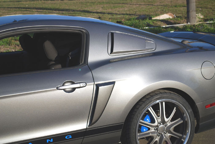 2010-2013 Mustang V6 & GT Lower Scoops by DG (Paint Options)