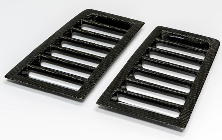 2010-2014 Mustang Hood Vents LG183 Carbon Fiber Vents - fits product codes:TC10025-A53 & TC10025-A53KR