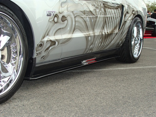 2010-2013 Mustang TF Side Skirts - CARBON FIBER - Pair