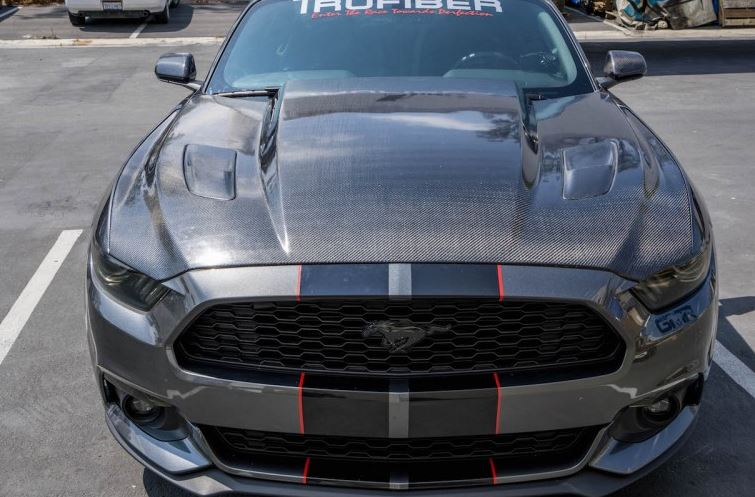 2015-2017 Mustang A49-3RL 3 INCH COWL Hood (Lightweight 17lbs) by TruFiber (Fits all 15-17 Models) CARBON FIBER