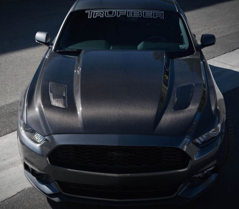 2015-2017 Mustang 3 INCH COWL Hood A49-3 by TruFiber (Fits all 2015 Models) CARBON FIBER