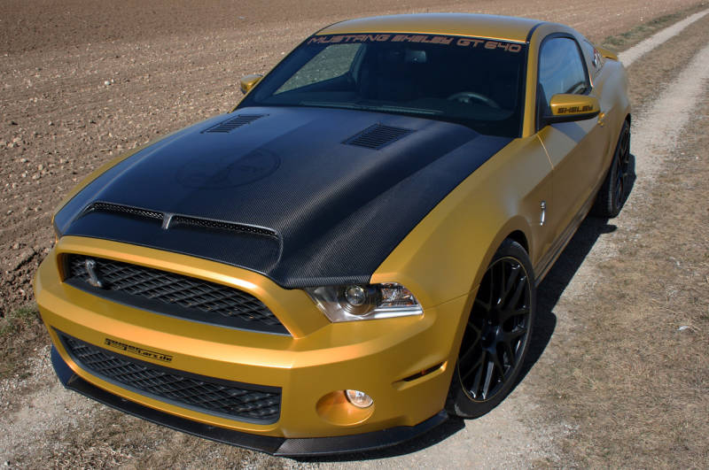 2010-2012 GT500 (NEW 2013-14 GT/V6) Ford Mustang GT500 Ram Air Hood - CARBON FIBER (FITS GT500 FRONT ONLY)
