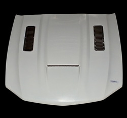 2010-2012 Mustang A61 Hood Fiberglass with Stainless Steel Vents Included (GT & V6)