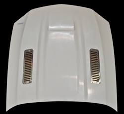 2010-2012 GT/V6 (NOT 10-12GT500) Mustang A61 Hood Fiberglass with Stainless Steel Vents Included (GT & V6)