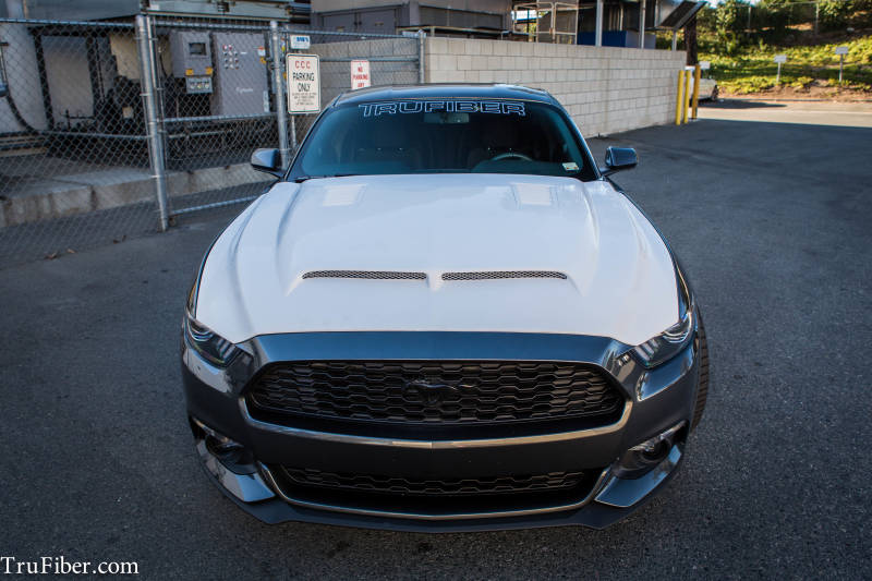 2015-16 Mustang A53 GTS Hood by TruFiber (Fits all 2015 Models) FIBERGLASS