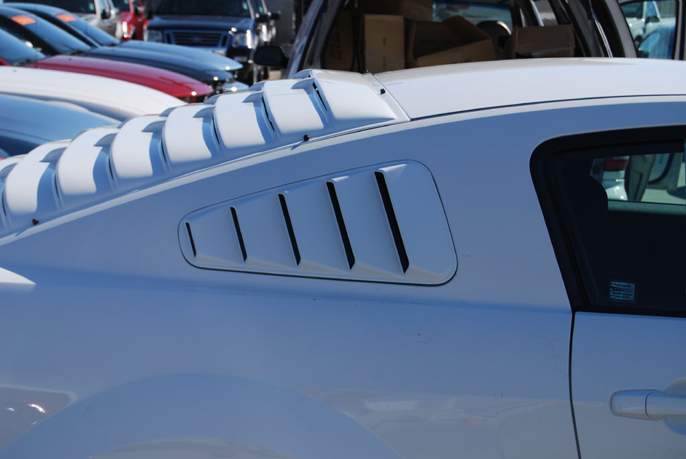 2005-2013 Mustang AH Rear Window Louver Kit - ABS - PAINTED
