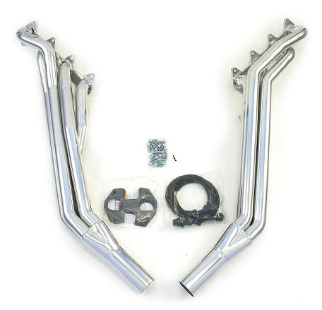2005-10 Mustang GT Dougs Long Tube Headers - Silver Ceramic Coated