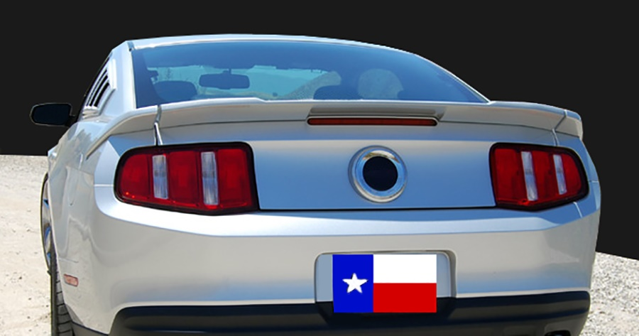 2010-2014 Mustang GT/V6 Spoiler 3PC Tail Wing Fiberglass (Paint Options)