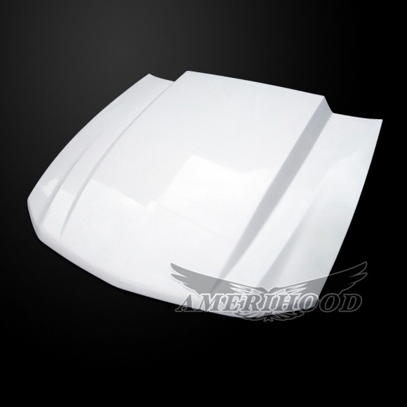 2010-2012 GT/V6 (NOT 10-12GT500) Mustang 3 Inch Cowl Functional Heat Extraction Ram Air Hood by Amerihood (Fiberglass)