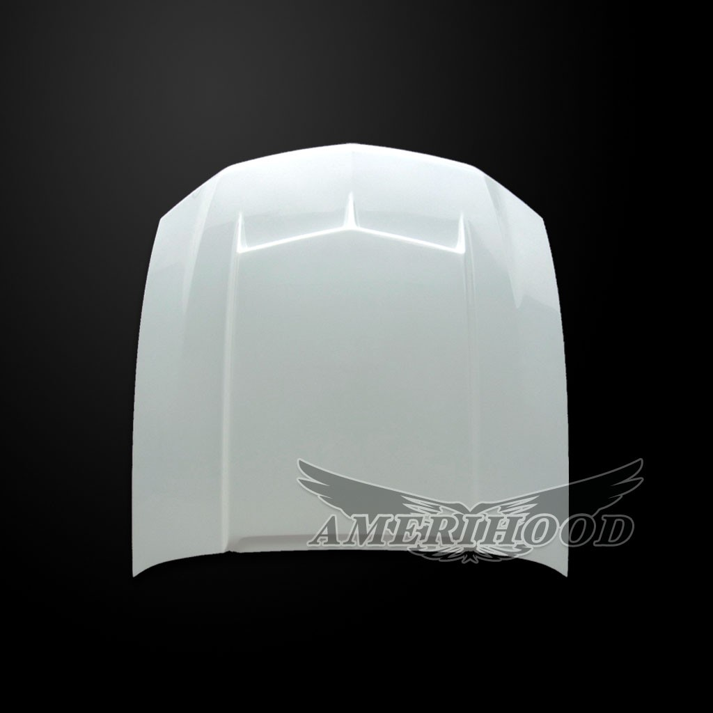 2010-2012 GT/V6 (NOT 10-12GT500) Mustang Type-C Style Functional Ram Air Hood by Amerihood (Fiberglass)