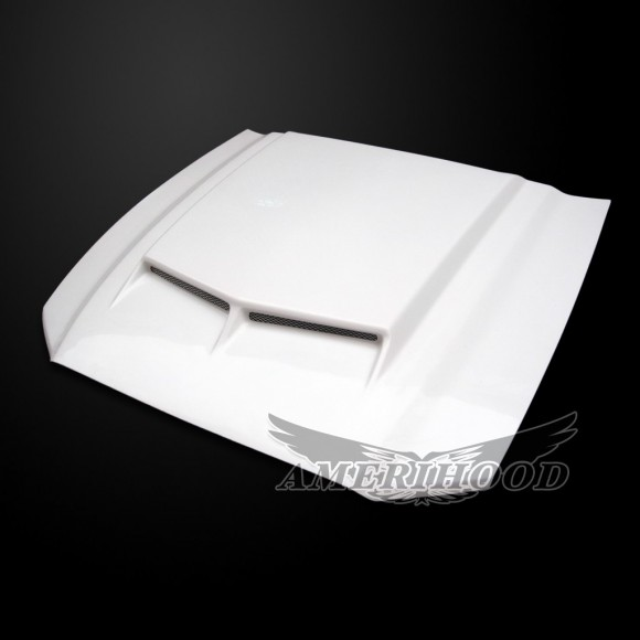 2010-2014 GT500 (2013-14 GT/V6) Mustang Type-C Functional Heat Extraction Ram Air Hood by Amerihood (Fiberglass)