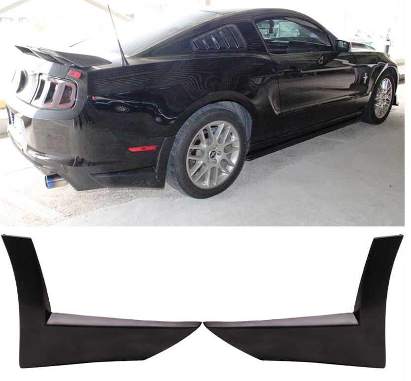 2013-14 GT/V6 Mustang Rear Aprons Right and Left - Polyurethane