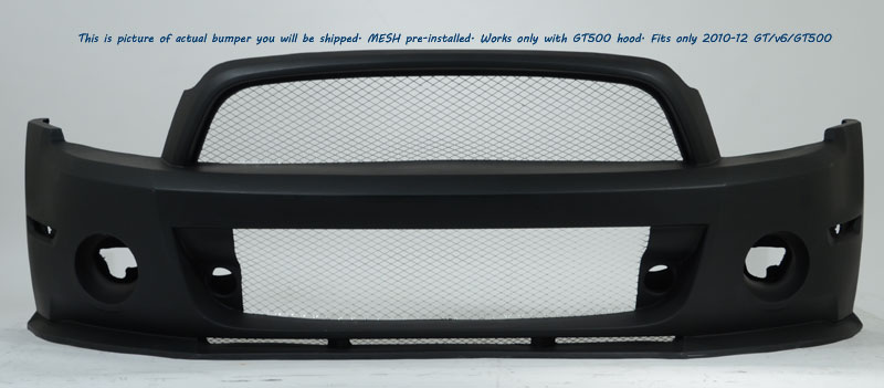2010-2012 GT500 (NEW 2013-14 GT/V6) Duraflex GT500 Look Conversion Hood (10-12 GT500 or 2013-14 GT/V6)