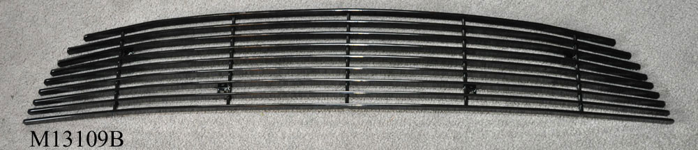 2013-14 Mustang V6 - Upper Billet Grille - Pony Delete - No Pony Black M13109B