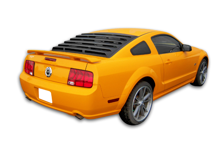 2005-2014 Mustang Rear Window Louver Kit - ABS BLACK TEXTURED (KEEP BLACK OR PAINT IT)