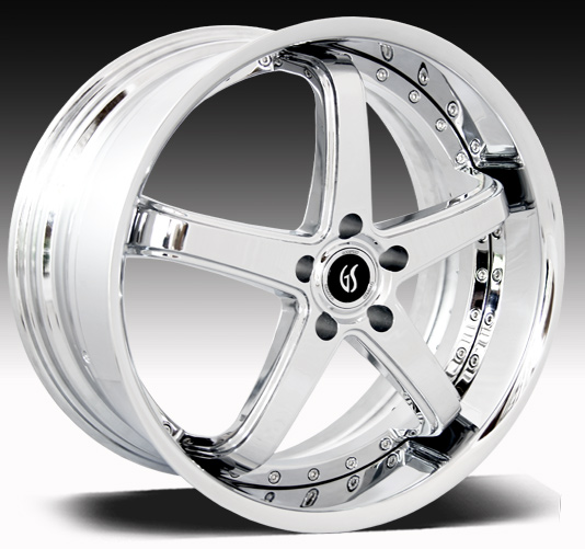 "OMEGA II GODSPEED 2PC Modular- CHROME - 94-14 GT/V6/GT500 w/Big Brakes(20x8.5, 20x10"")(NITTO TIRE OPTIONS)"