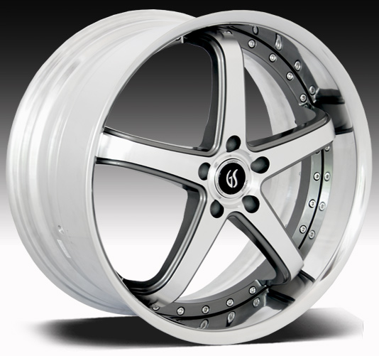 "OMEGA II GODSPEED 2PC Modular- Gunmetal Machine Face- 94-14 GT/V6/GT500 w/Big Brakes(20x8.5, 20x10"")(NITTO TIRE OPTIONS)"