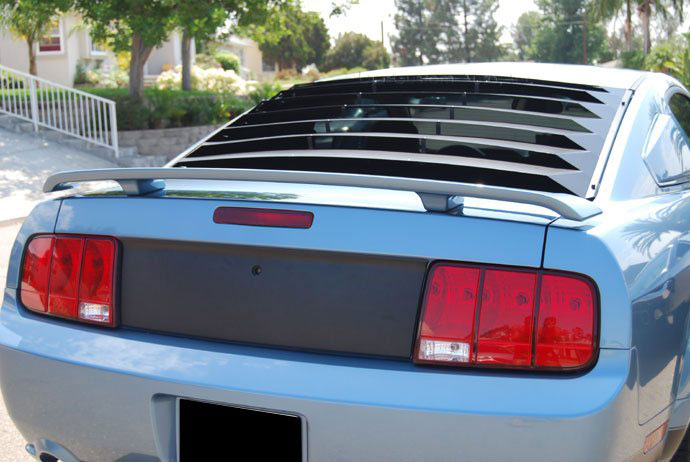 2005-2014 Mustang AH Rear Window Louver Kit - Aluminum BLACK FINISH