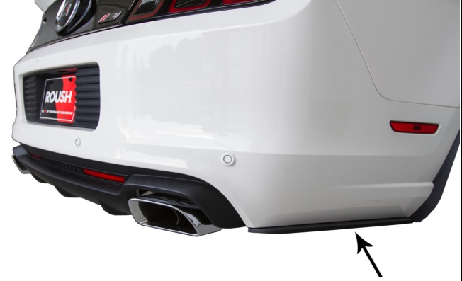 2013 Mustang Roush Rear Side Splitters GT or V6