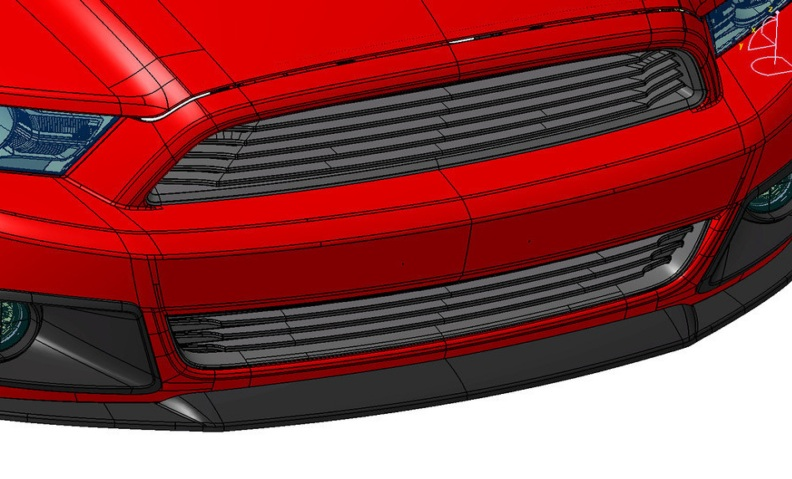 2013 Mustang Roush Lower Grille