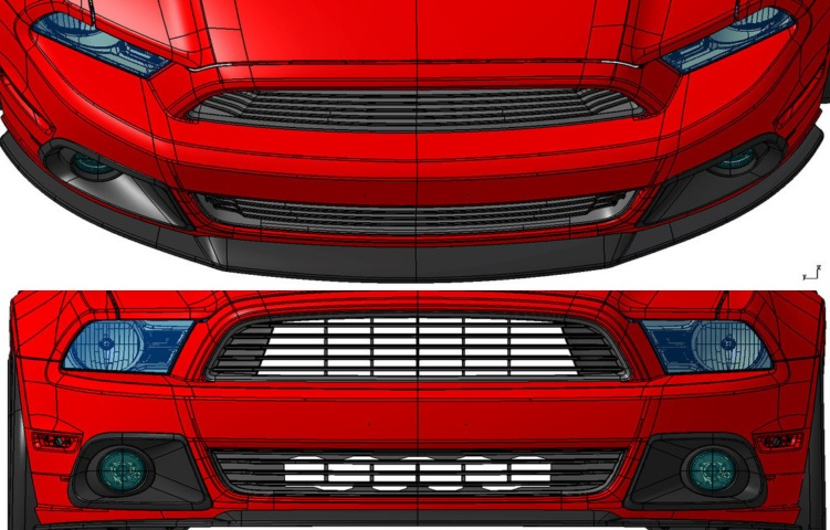 2013-14 Mustang Roush Lower Grille