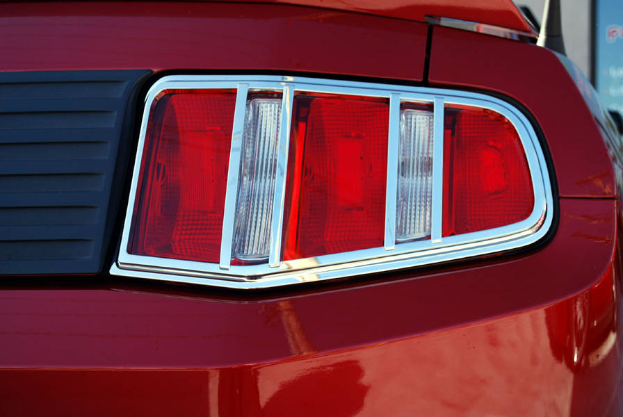 2010-12 Mustang Chrome Tallight Bezel (Pair)