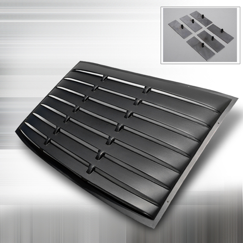 2005-2013 Mustang SD Rear Window Louver Kit - ABS Black