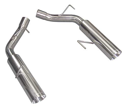 2011-2013 Mustang GT Pype Bomb Axle-Back Muffler Delete System - Polished - by PYPES