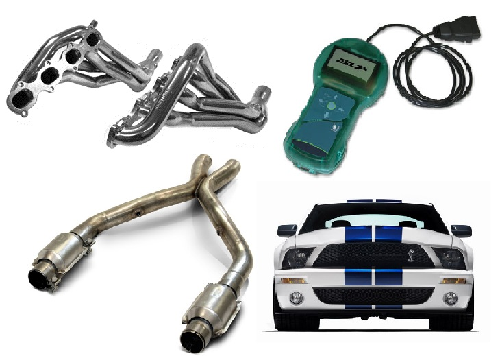 2007-10 GT500 SLP Long Tube Headers Package