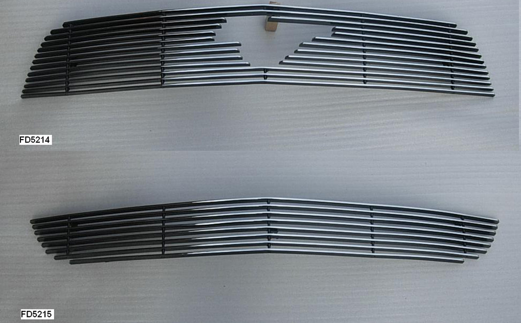 2010-2012 Mustang V6 Upper / Lower Billet Grille COMBO - With Pony Cut - CHROME