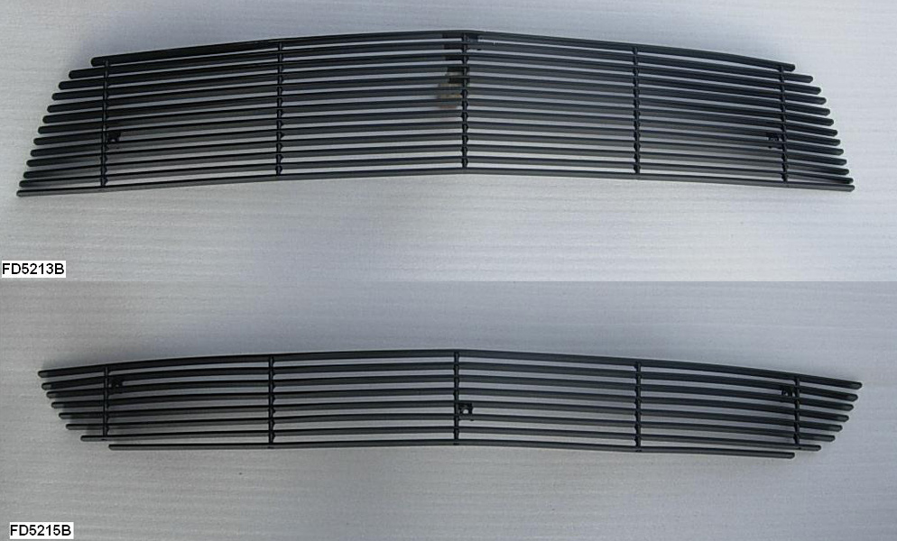 2010-2012 Mustang V6 Upper / Lower Billet Grille COMBO - No Cut out - BLACK