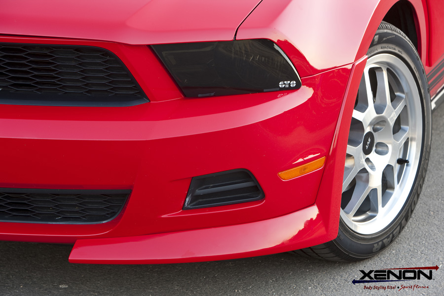 2010-2012 Mustang V6 Xenon 7pc Front & Rear Air Dam Kit With 3pc Wing