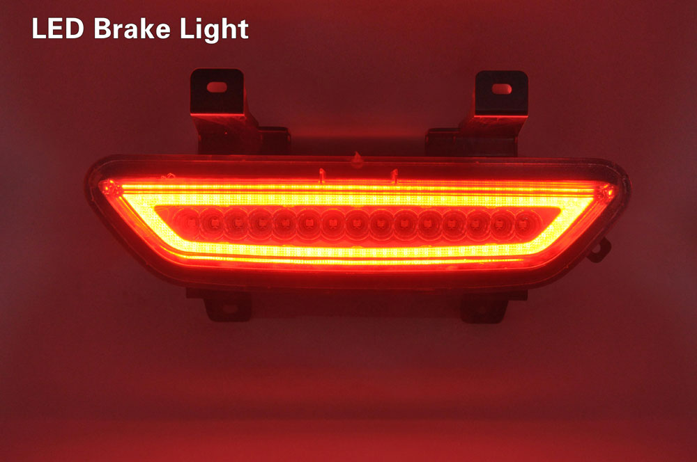 2015-17 Mustang Reverse LED Light & LED Brake Light - SMOKED LENS