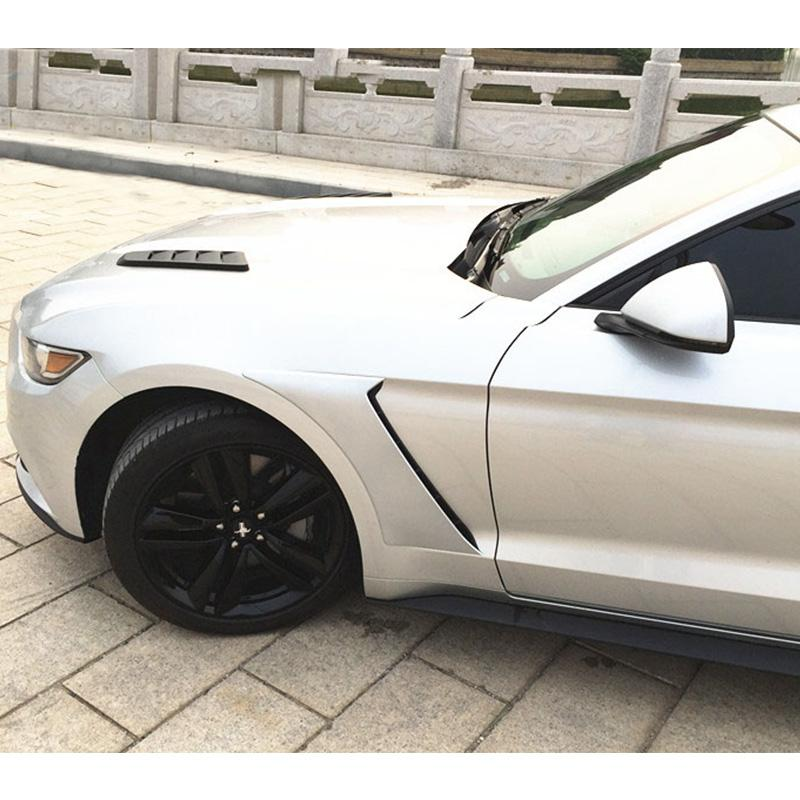 2015-17 Mustang Front Fender Scoop Vents Type GT350 V1 - (ALL MODELS) PAIR - ABS Plastic
