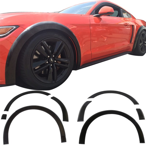 2015-17 Mustang 12PC Front and Rear Fender Flares - Polyurethane