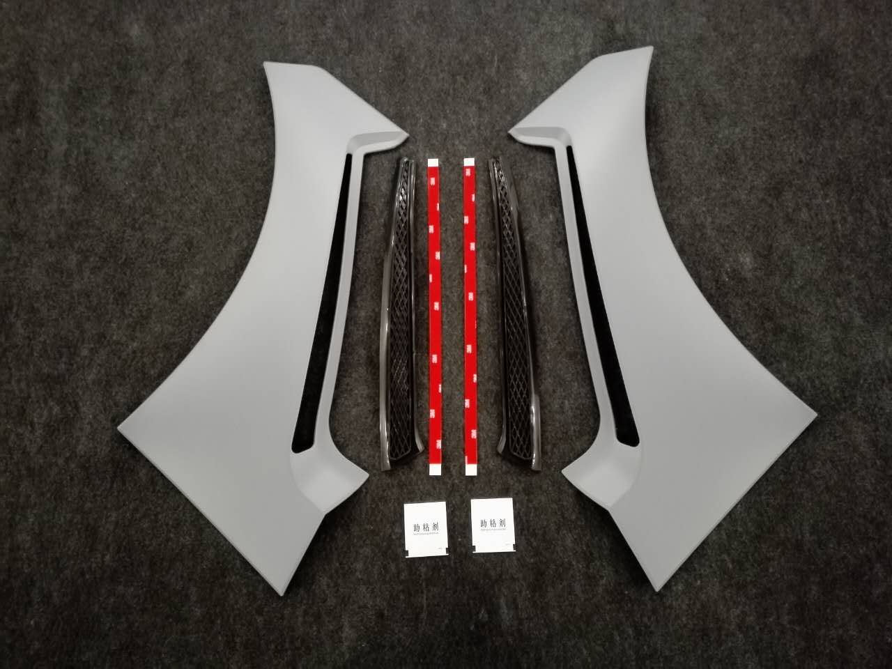 2015-17 Mustang Front Fender Scoop Vents Type GT350 V2 - (ALL MODELS) PAIR - Polyurethane
