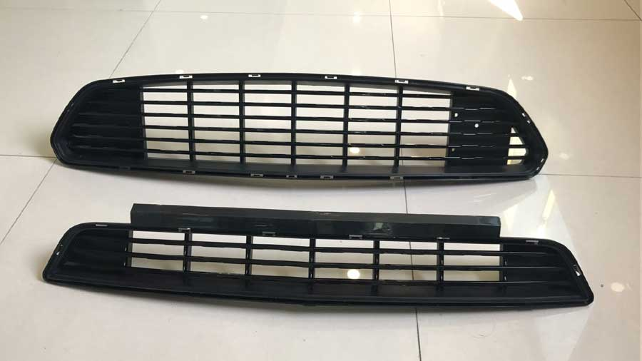 2015-2017 Mustang GT/CS Upper and Lower Grille Set - BLACK (Fits all models)