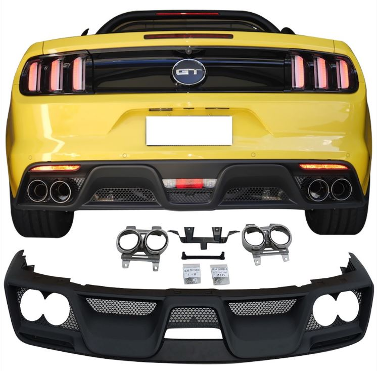 15-17 Mustang GT350 Style Mustang FULL Conversion Package - Direct fit 17PC KIT (Cat back Exhaust and Tips included)