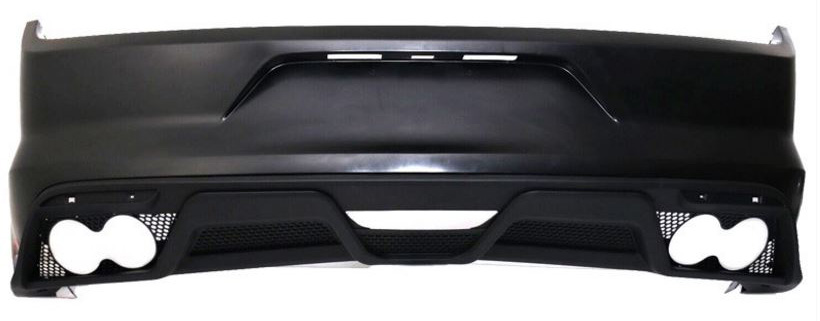 15-17 Mustang GT350 Style Mustang Rear bumper upper and lower Valance (NO Tips) - Polypropylene Plastic