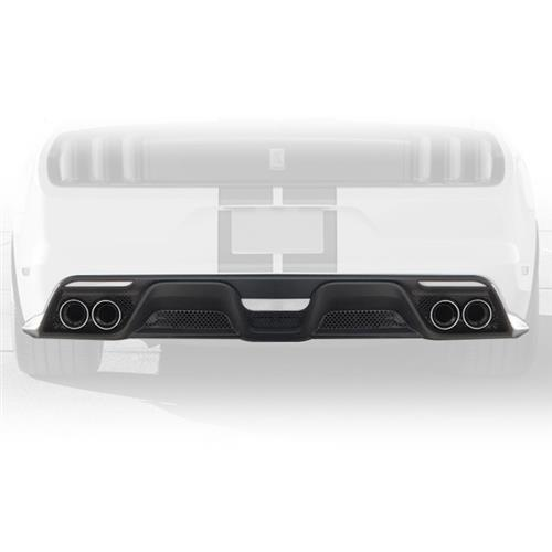 15-17 Mustang GT350 Style Mustang Lower Valance w/DUAL Exhaust tips & Full Cat Back Exhaust system for ECO 2.3L
