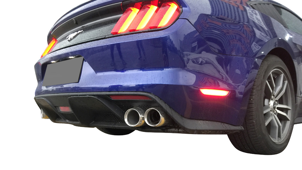 15-17 Mustang GT350 Style Mustang Lower Valance w/DUAL Exhaust tips - Polypropylene Plastic (All Models)