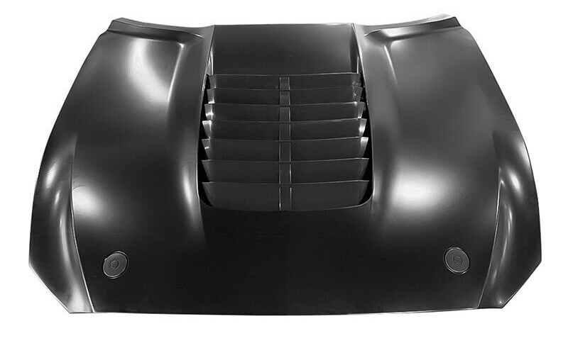 18-20 Mustang GT500 Style Aluminum Hood (Fits all 18-20 Models) Direct Fit & Includes Plastic Louvers